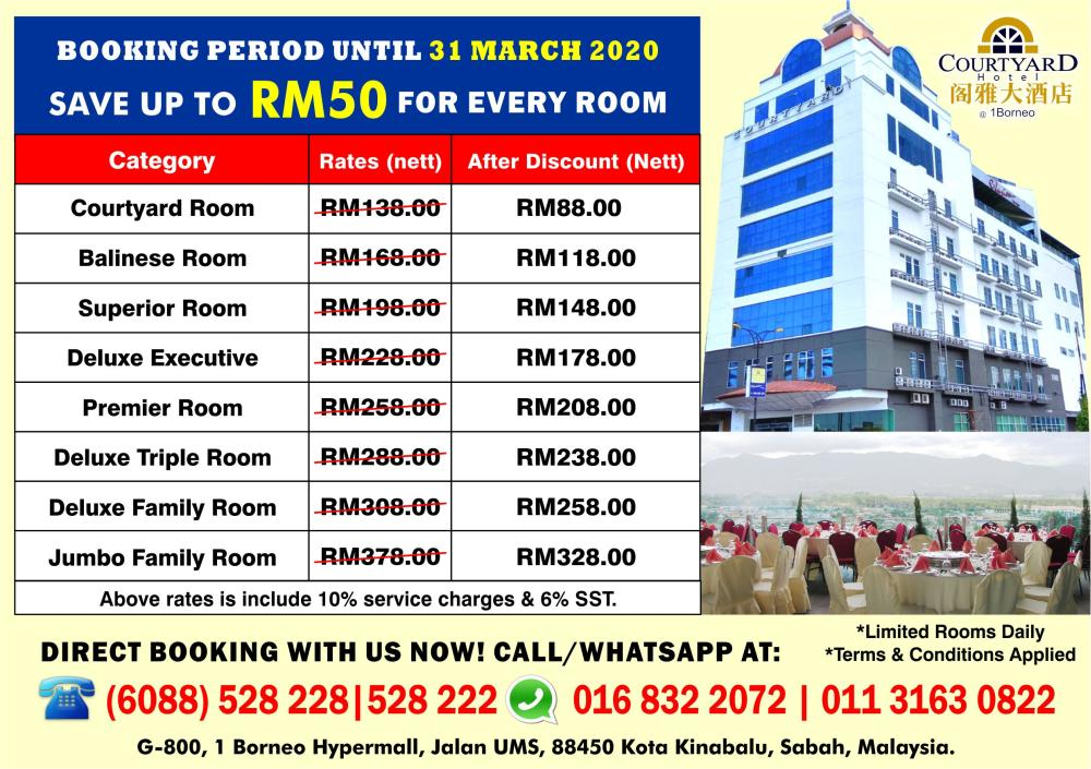 All Room Discount RM50